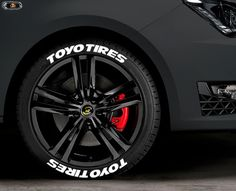 """1/"""" For 17/"""" 18/"""" Wheels low profile 8pcs Permanent TOYO TIRES Tire Stickers"""