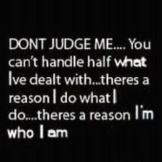 There's a reason.  Don't judge me.
