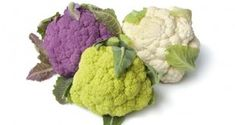 Fresh purple, green and white cauliflower by picturepartners. Fresh purple, green and white cauliflower on white background Colored Cauliflower, Head Of Cauliflower, Roasted Cauliflower, Fresh Fruits And Vegetables, Organic Vegetables, Milk Thistle, Summer Fruit, Whole Food Recipes, Herbalism