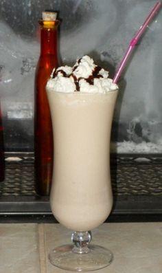 The Chocolate Monkey - Godiva Chocolate Vodka, Vanilla Ice Cream, Banana, Chocolate Syrup, Whipped Cream. #Drinks #Cocktails #Dessert #Godiva