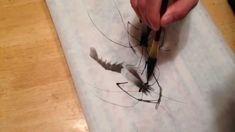 画虾 (shrimp painting by Lin Li)
