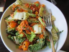 Napa Cabbage Salad with Sweet and Spicy Vinaigrette