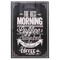Rakuten - Earn Super Points at your favourite retailers and choose great rewards. Coffee Area, Coffe Bar, Natural Coffee, Chalkboard Lettering, Inspirational Text, Kitchen Signs, Kitchen Ideas, Kitchen Decor, Good Morning Coffee