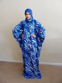 Floral blue and white Maxi Dress Plus Size Elegant Prayer dress Farasha Caftan Muslim abaya Modern hijab Burqa Namaz salat dress gift Tesettür Tunik Modelleri 2020 Dress Plus Size, Plus Size Maxi Dresses, Long Dresses, Afrocentric Clothing, Moslem Fashion, Short African Dresses, Hijab Collection, Modern Hijab, African Traditional Dresses