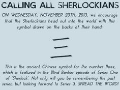 CALLING ALL SHERLOCKIANS--NOVEMBER 20th!!!