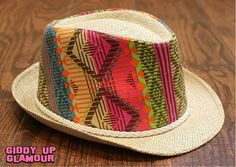 Neon Aztec Fedora | A must have for summer! | $16.95