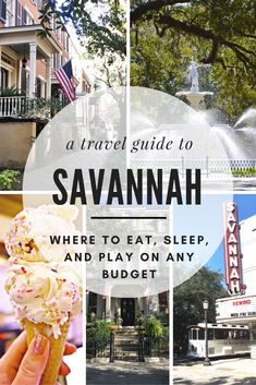 We're trading in our skyscrapers and bustling sidewalks for the historic  sites and tree lined streets of this Southern destination. It's time to  explore the charming city of Savannah, Georgia to see what exactly makes  this eclectic, vibrant place sparkle.Check out this travel guide for tips  on where to eat, sleep, and play on every budget in Savannah!