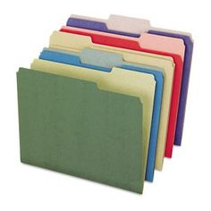 A colorful and conscientious choice, 100% recycled folders are great for the office and the environment. Pendaflex EarthWise EarthWise Recycled File Folders, 1/3 Cut, Top Tab, Letter, Assorted, 50/Bx