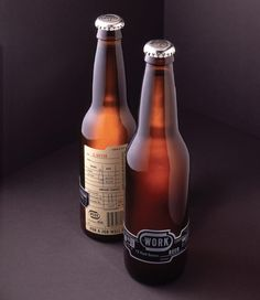 WORK beer label