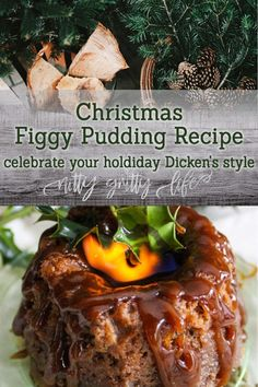 This figgy pudding recipe, steeped in tradition, is sure to excite even the Ebenezer Scrooge types with its fruity sweetness & spectacular flaming presentation. Create new Christmas traditions with this heirloom recipe. Christmas Pudding, Christmas Desserts, Christmas Baking, Christmas Traditions, Christmas Dinners, Christmas Fudge, Christmas Foods, Hallmark Christmas, Christmas Carol