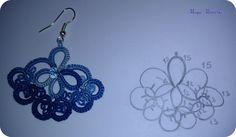 orecchini chiacchierino | Hobby lavori femminili - ricamo - uncinetto - maglia
