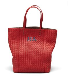 I don't own any monogrammed or initialed bags, because I haven't been a big fan. But I'm kind of in love with Bottega Veneta's new initial collection. Especially the tote. It is a perfect size and the price, $1680, is pretty reasonable for a BV bag. Red is my favorite color and this one is good, but the ivory would also be gorgeous yet understated.