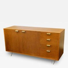George Nelson Herman Miller Low Profile Credenza with Hair Pin Legs by George Nelson