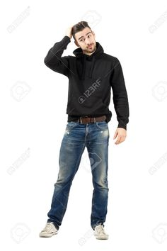 Picture of Male fashion model fixing hair with hand. Full body length portrait isolated over white background. stock photo, images and stock photography. Fashion Photography Poses, Body Photography, Fashion Poses, People Photography, Male Fashion, Runway Fashion, Human Poses Reference, Pose Reference Photo, Body Reference