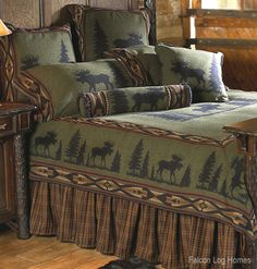 Cabin Decor - Moose Rustic Bedding