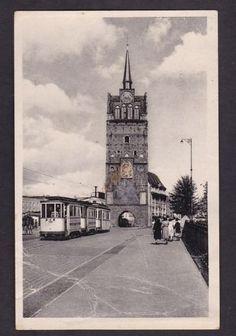 Rostock, Kröpeliner Tor, Straßenbahn, 1955