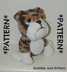 PATTERN ONLY Crochet English Bulldog by KuddlesAndKritters