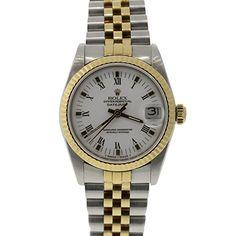 Pre-Owned Rolex Unisex Two-tone Datejust Pre Owned Rolex, Luxury Jewelry, Rolex Watches, Jewelry Watches, Unisex, Vintage, Accessories, Vintage Comics, Primitive