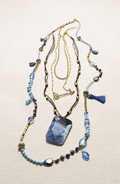 Free shipping and returns on Sara Bella Extra Long Beaded Necklace at Nordstrom.com. Mixed-media beadwork and a wrappable length add endless styling options to an eclectically colored necklace.