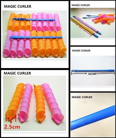 [Visit to Buy] DIY Hair Curler 18pcs/lot Magic Hair Rollers 45cm Long easy to use Soft Hair Styling Tools With Stick No Harm #Advertisement