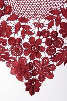 Letras e Artes da Lalá: Xale: crochê irlandês (sem receita - pinterest.com)