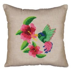 Design Works™ Hummingbird Punch Needle Pillow Cover Punch Needle $15.99