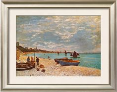"""Beach at Sainte-Adresse"" by Claude Monet"