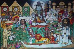 Rastafari Art, Rastafarian Culture, Stream Of Consciousness, Reggae Music, Black Pride, Ethiopia, African, History, Painting