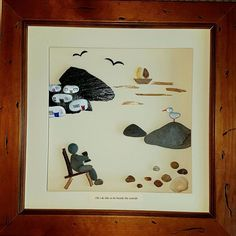 Oh I do like to be beside the seaside....pebble art at the beach... #aberystwyth #pebbleartist #caravan #holidaybytheseaside #beach #seaside #pebble #rocks #art