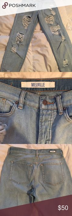 Brandy Melville boyfriend jeans Purchased from pacsun. In perfect condition. Worn once. First picture isn't mine but the last picture is how they look on me! Brandy Melville Jeans Boyfriend