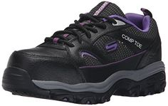 Skechers for Work Women's 76528 D'Lite Slip-Resistant Steel-Toe Work Shoe -- You can get more details here : Women's Shoes