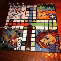 Frozen ludo board game hama beads by martin_ostergaard