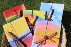 Watercolor Handmade Journals the children could make for summer fair