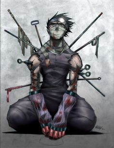 Zabuza. Since the scene with Zabuza en Haku dying on the 'Naruto' bridge, and the whole story around it, I (can) cry while watching sad scenes in movies, or anime, or whatever. Never did that before. That's why I love Zabuza (nevermind he's the bad guy)