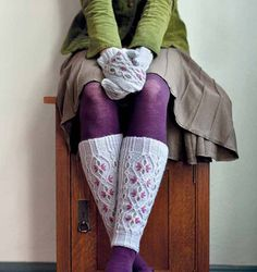 Ravelry: Innsbruck Mittens + Leg Warmers Tyrolean knitting - embroidered cables. omg.