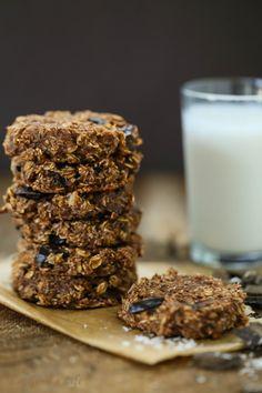 Double chocolate banana chunk cookies - Gluten free and vegan