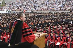 Speak at a commencement