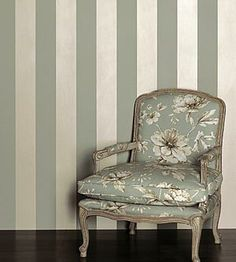 Dramatic vertical banded stripes of silver and grey make a bold statement