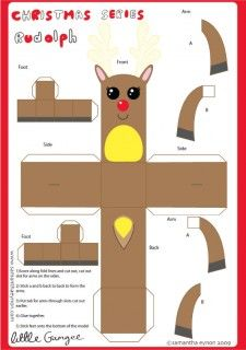 Blog_Paper_Toy_christmas_papertoys_Samantha_Eynon_Rudolph_template_preview