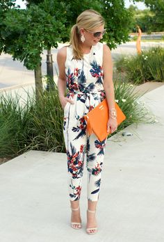 Summer Style: Tropical Jumpsuit | Because Shanna Said So