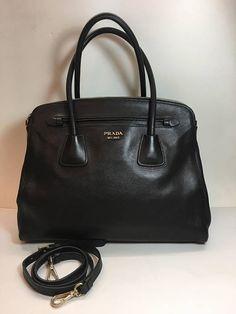 Authentic Prada Saffiano Black Medium Bag