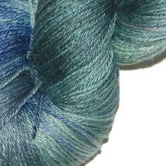 SUMMER SEAS 50% Superwash Merino and 50% Silk Hand Dyed Poet Seat Yarn, Price: $30.00 at kangaroodyer.com.