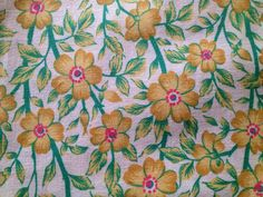 Cool 60s swedish vintage fabric with bright colours. by Inspiria