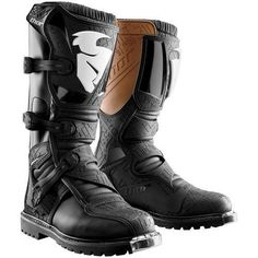 Pre-curved injection-molded shin plate Three fully adjustable straps allow for a custom fit Fully synthetic heat shield Injection-molded. Atv Boots, Combat Boots, Leather Men, Leather Shoes, Atv Motocross, Kids Boots, Offroad, Thor, Off Road