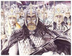 The Mormegil by peet on DeviantArt - 'The sword Anglachel was forged anew for him by cunning smiths of Nargothrond, and though ever black its edges shone with pale fire; and he named it Gurthang, Iron of Death