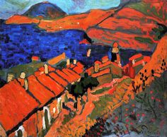 André Derain ~ Collioure, the Village and the Ocean, 1905