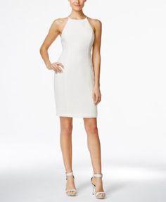 Calvin Klein Racerback Halter Sheath Dress