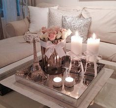 cute table decoration living room