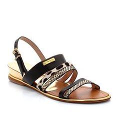 Leather Multi-Strap Flat Heeled Sandals