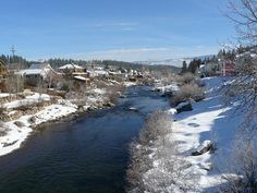 Truckee River as seen from the Downtown Truckee area.
